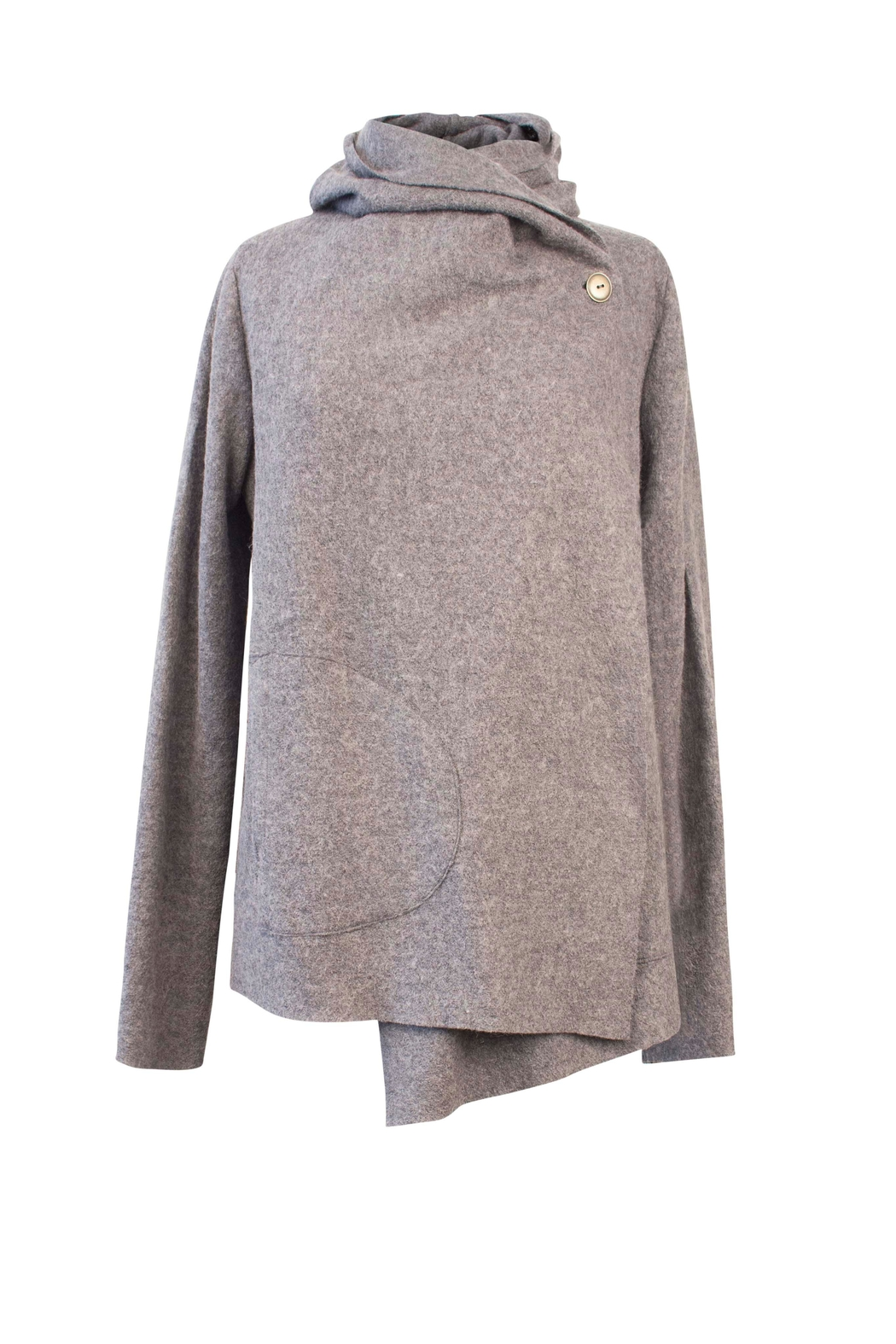 Helena Jones Wool Hooded Top - Main Image