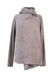 Helena Jones Wool Hooded Top - Front cropped
