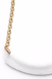Helene Jewelry Leather Bar Necklace - Product Mini Image