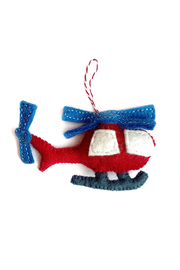 Ornaments 4 Orphans Helicopter Felt Wool Ornament - Product Mini Image