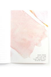 Lyn -Maree's Hell YES - F No, Watercolor Inspirational Mantra Notebook - Side cropped
