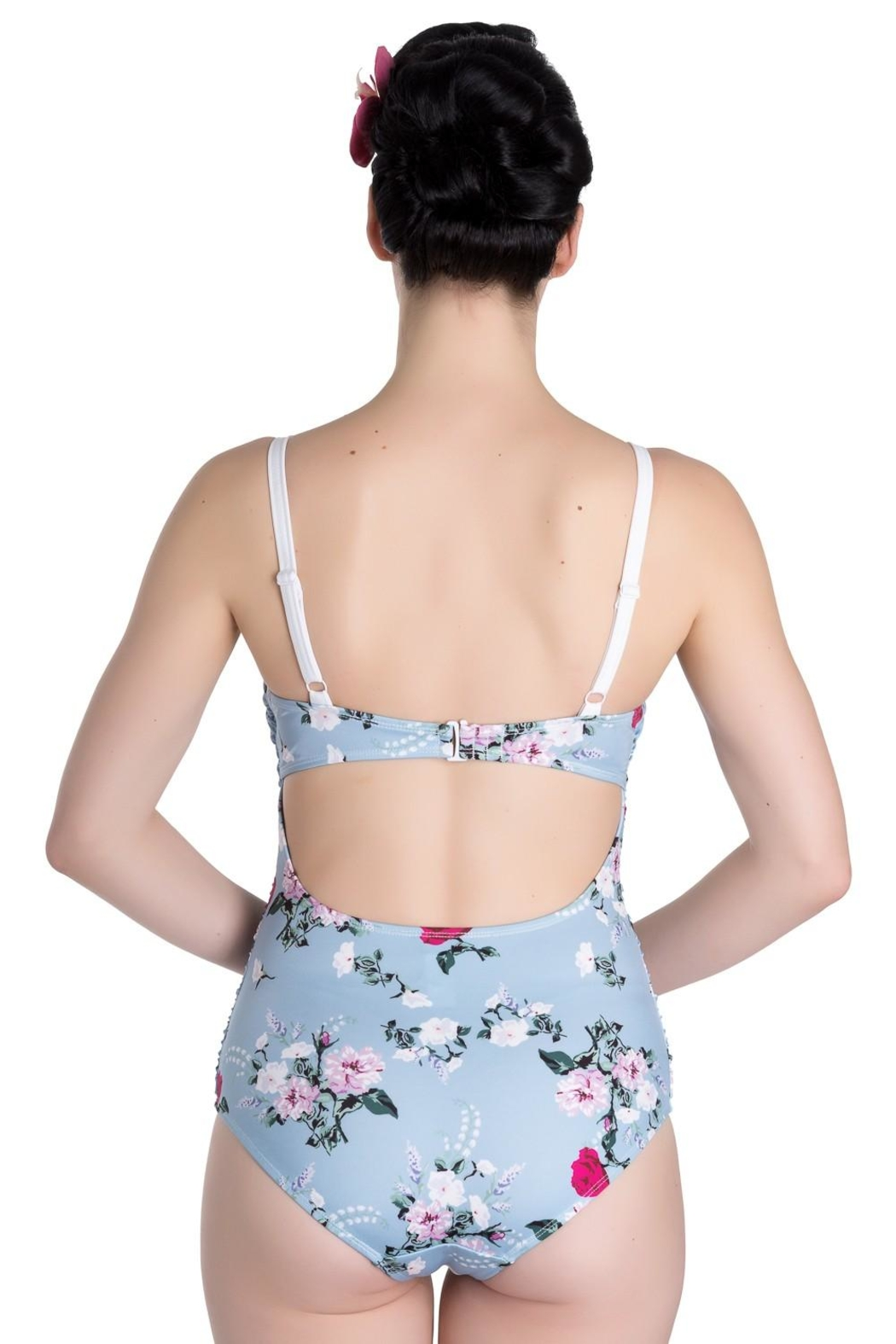 Hell Bunny Belinda Floral Swimsuit - Front Full Image