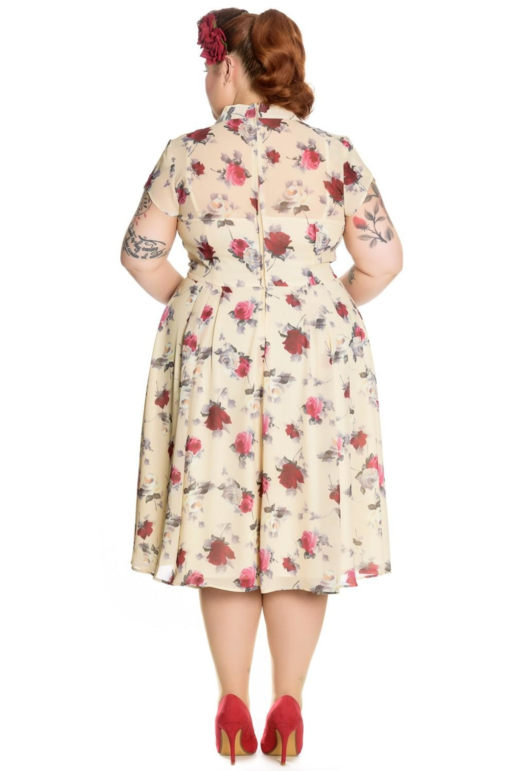Hell Bunny Leah Rose Dress - Front Full Image