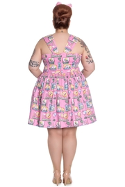 Hell Bunny Pink Flamingo Dress - Front full body