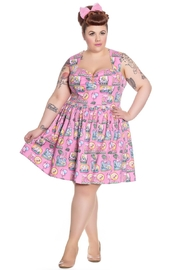 Hell Bunny Pink Flamingo Dress - Product Mini Image