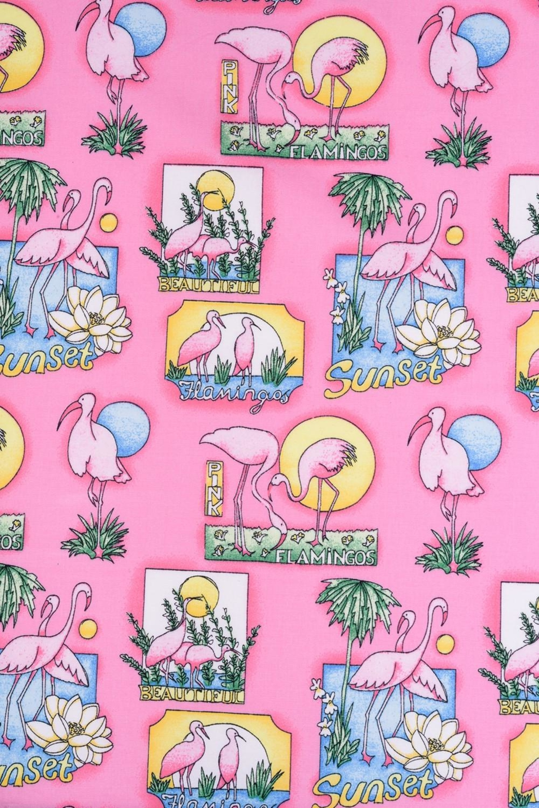 Hell Bunny Pink Flamingo Dress - Side Cropped Image