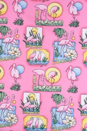 Hell Bunny Pink Flamingo Dress - Side cropped