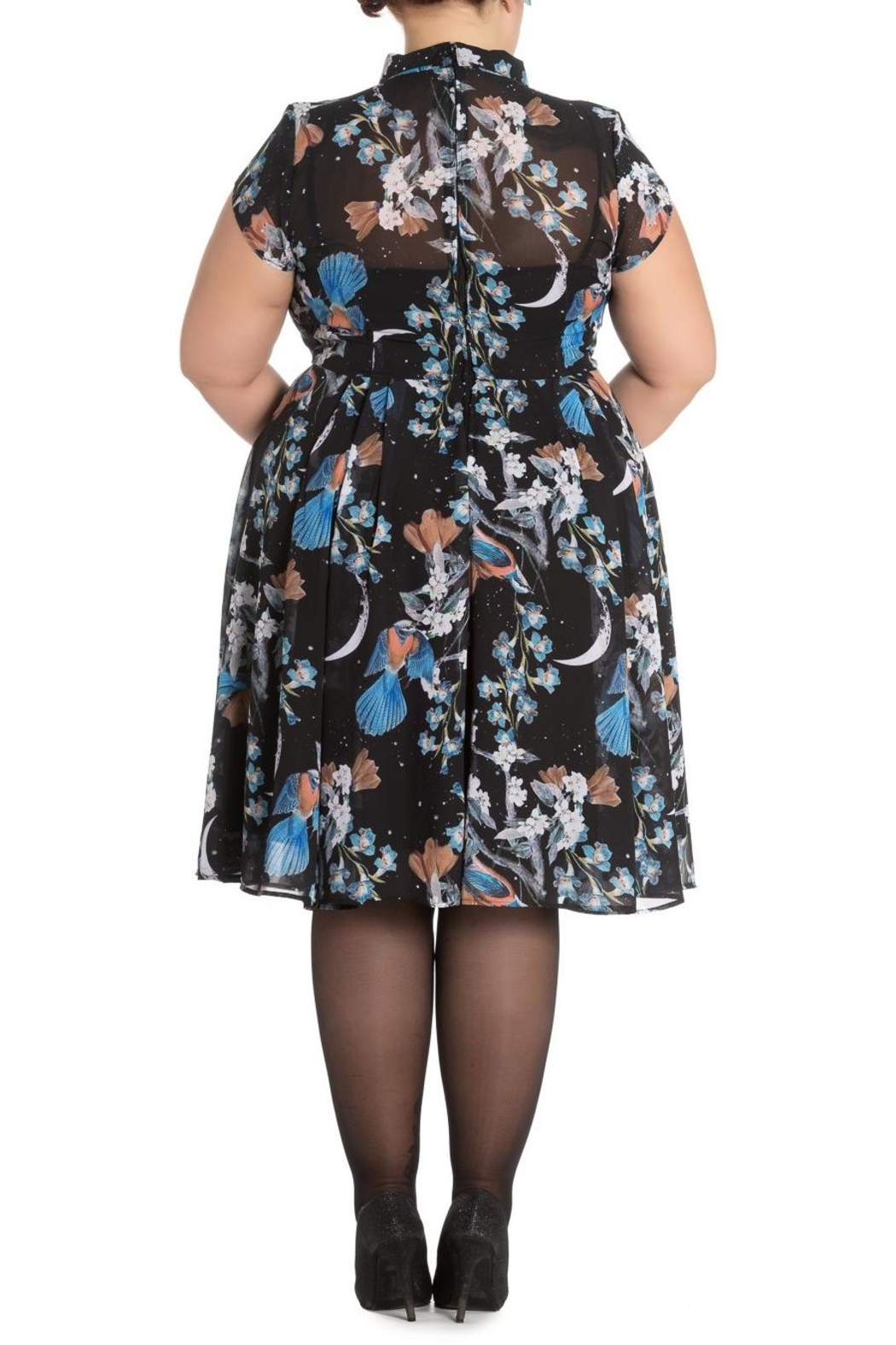Hell Bunny Starry Night Dress - Back Cropped Image