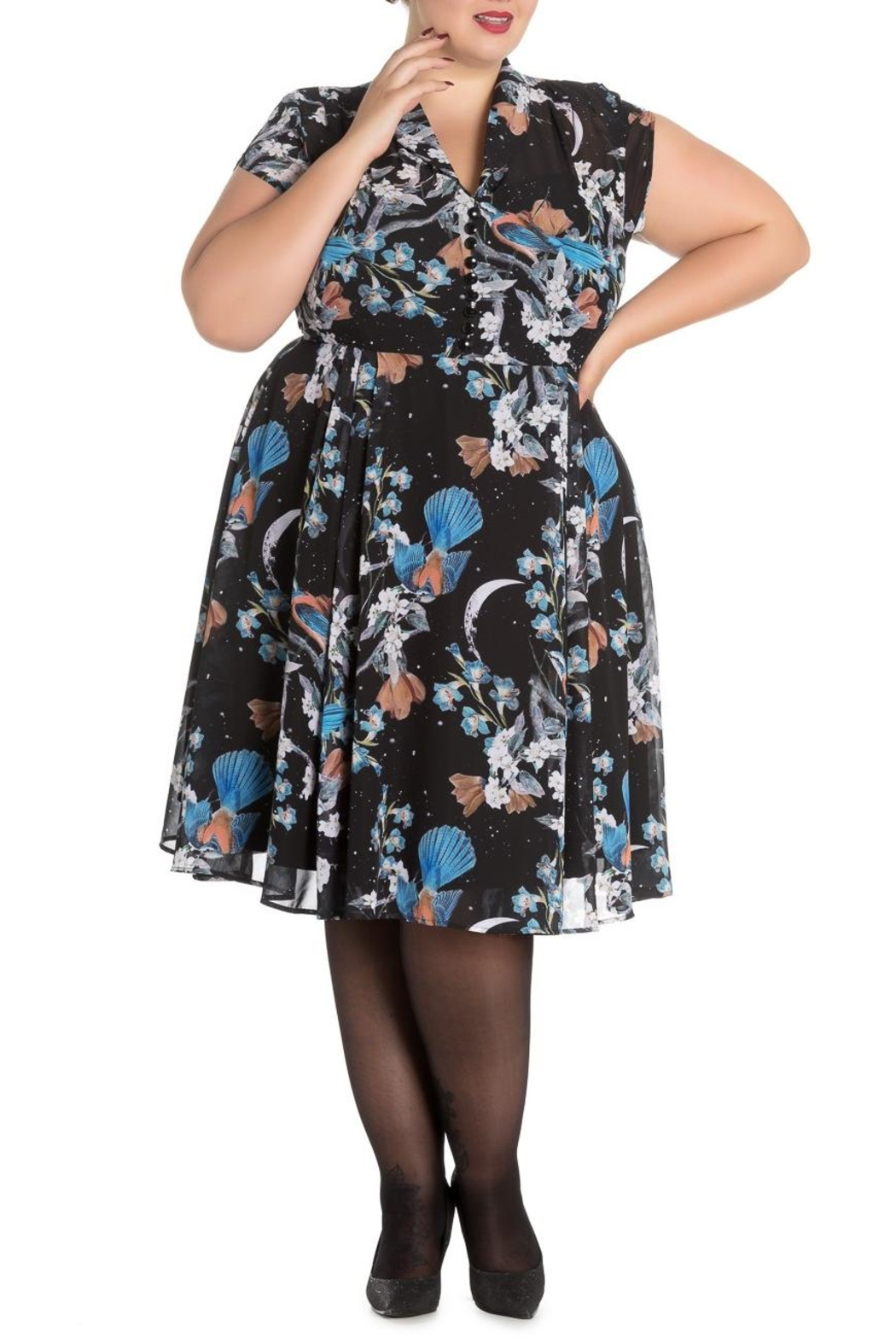 Hell Bunny Starry Night Dress - Side Cropped Image