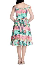 Hell Bunny Vintage Style Peacock Dress - Front full body