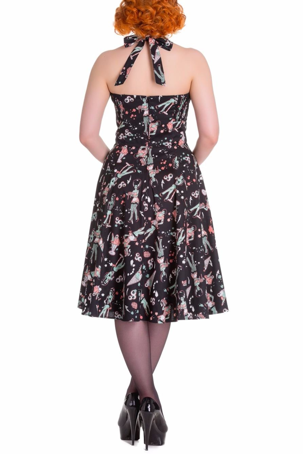 Hell Bunny Zombie Diner Dress - Front Full Image