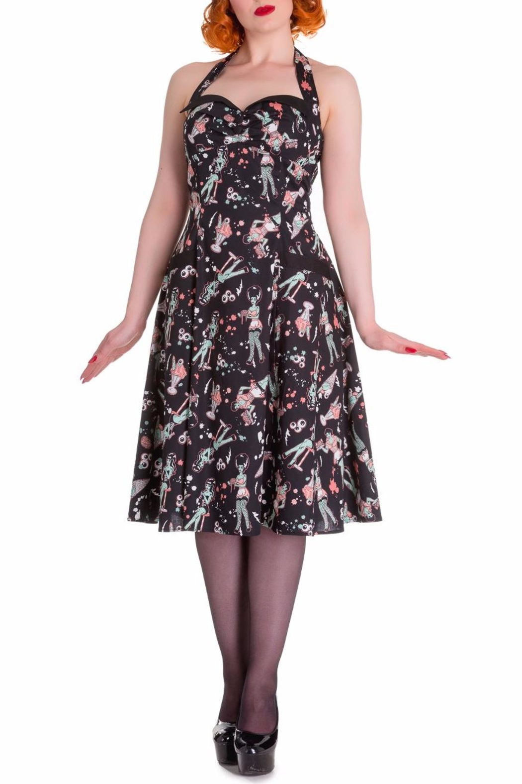 Hell Bunny Zombie Diner Dress - Front Cropped Image