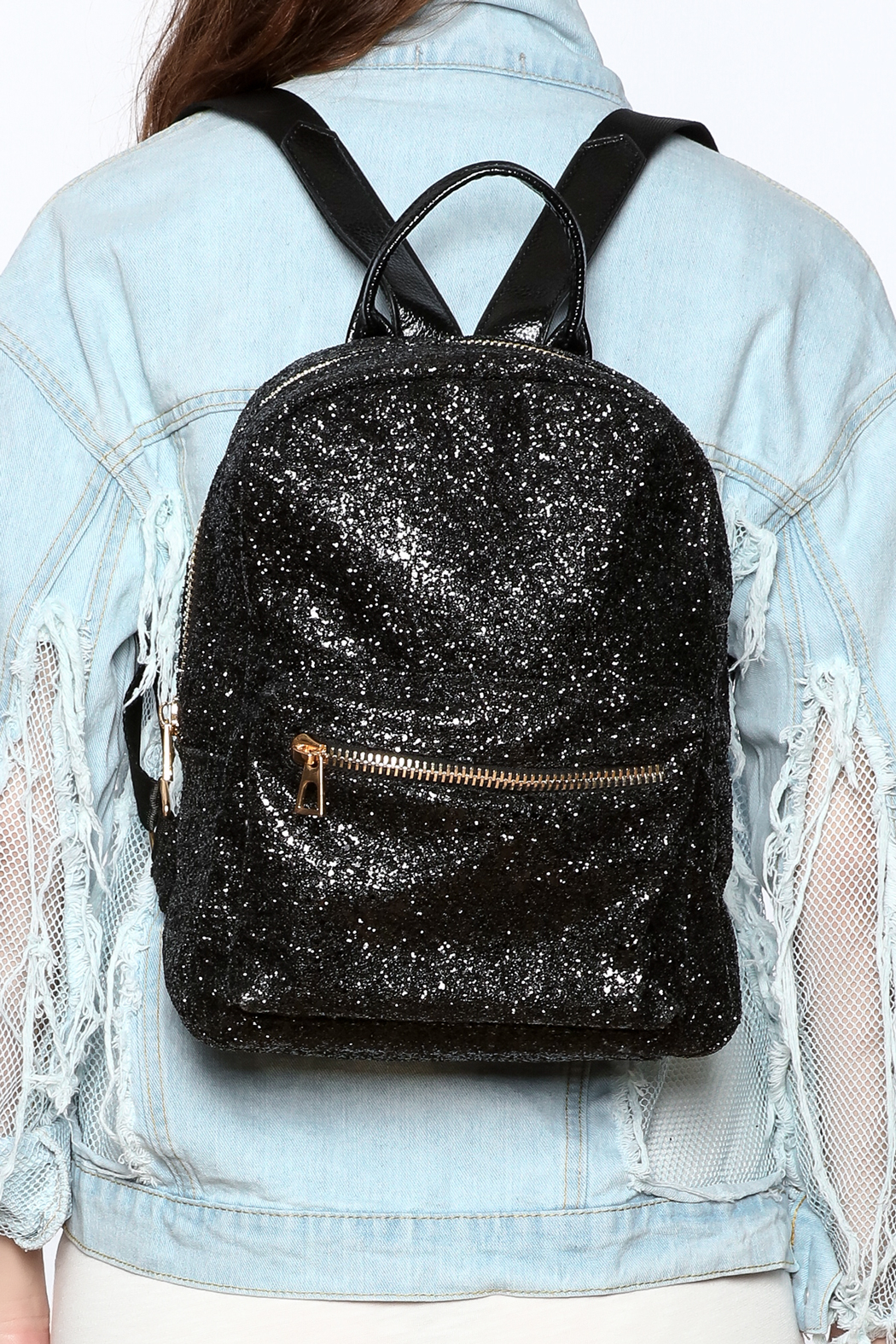 Hello 3am Sparkle Backpack - Back Cropped Image