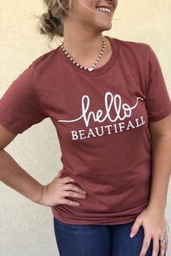 kissed Apparel Hello Beautifall graphic tee - Alternate List Image