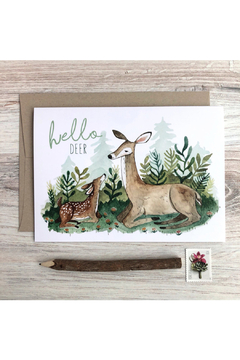 Little Pine Artistry Hello Deer Card - Product List Image