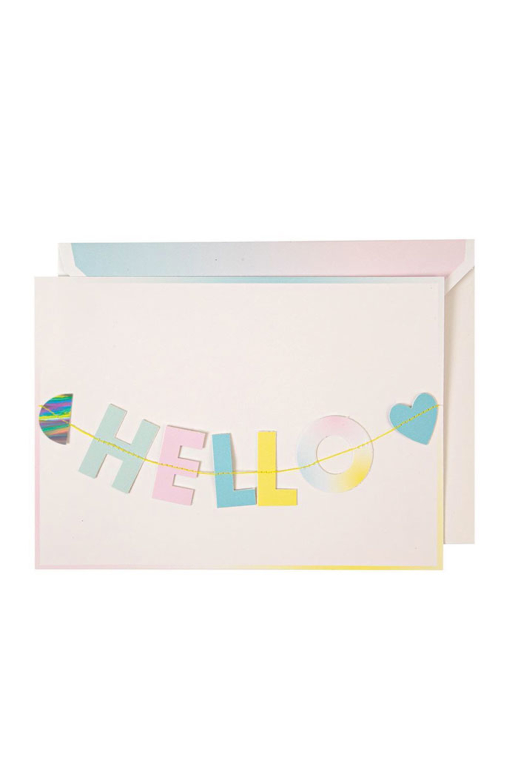Meri Meri Hello Little One Garland Card - Front Cropped Image