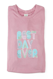 Hello Mello Best Day Ever Pnk Sweater - Product Mini Image