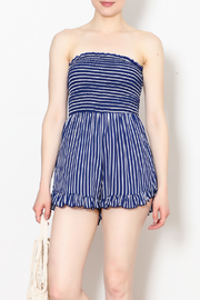 Hello Miss Blue Stripe Romper - Product Mini Image