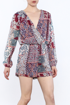Shoptiques Product: Red Mix Print Romper