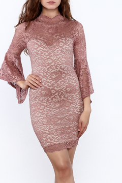 Shoptiques Product: Mauve Lace Bodycon Dress