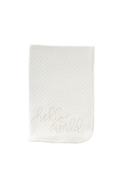 MUDPIE Hello Sparkle Blanket - Front cropped