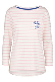 Sugarhill Boutique Hello Stripe Top - Product Mini Image