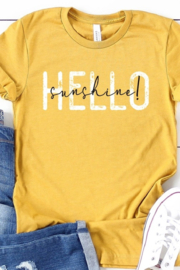 kissed Apparel Hello Sunshine graphic tee - Front cropped