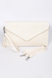 Hello 3am Envelope Ivory Straw-Clutch - Product Mini Image