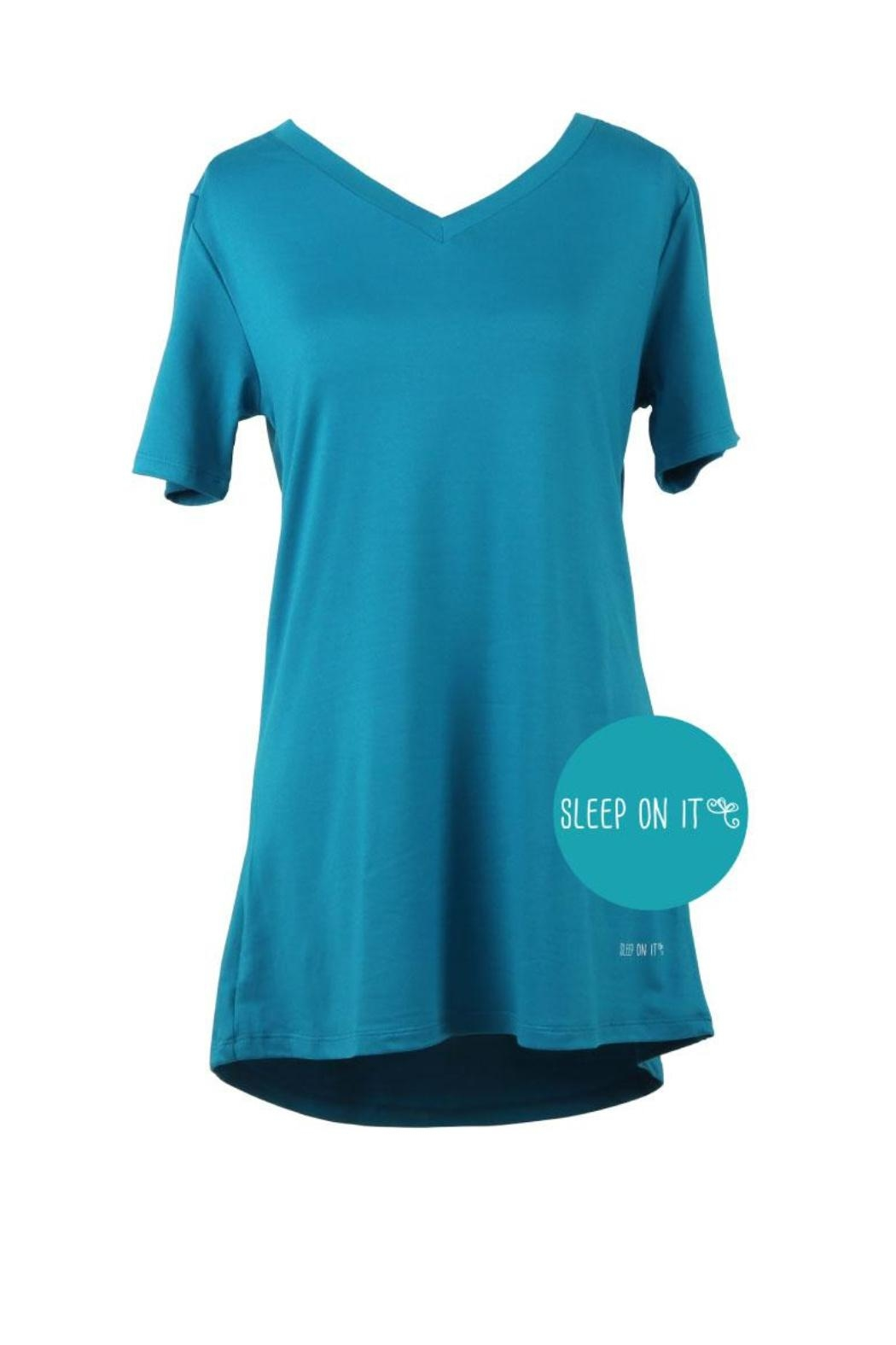 Hello Mello Hm Dream Tee - Teal - Front Cropped Image