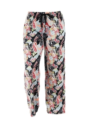 Hello Mello Hm Midnight Paisley Pants - Front cropped