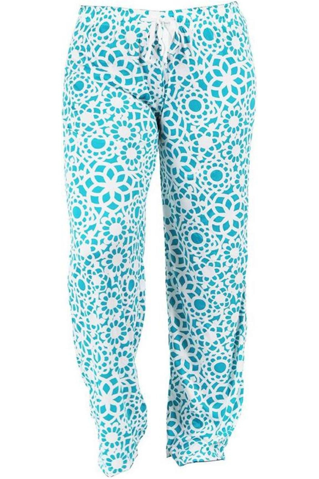Hello Mello Hm Pants - Turquoise - Front Cropped Image