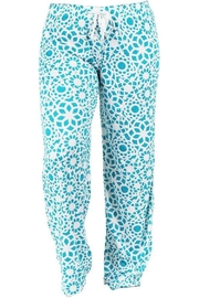 Hello Mello Hm Pants - Turquoise - Front cropped