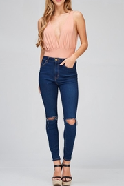 Hello Miss Deep V Bodysuit - Front cropped
