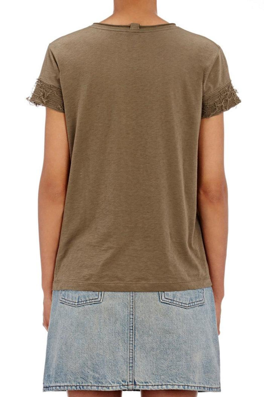 Helmut Lang Raw Edge Tee - Side Cropped Image