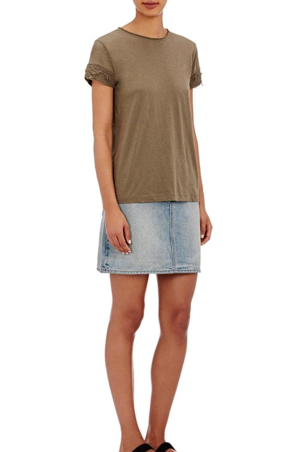 Helmut Lang Raw Edge Tee - Front Cropped Image