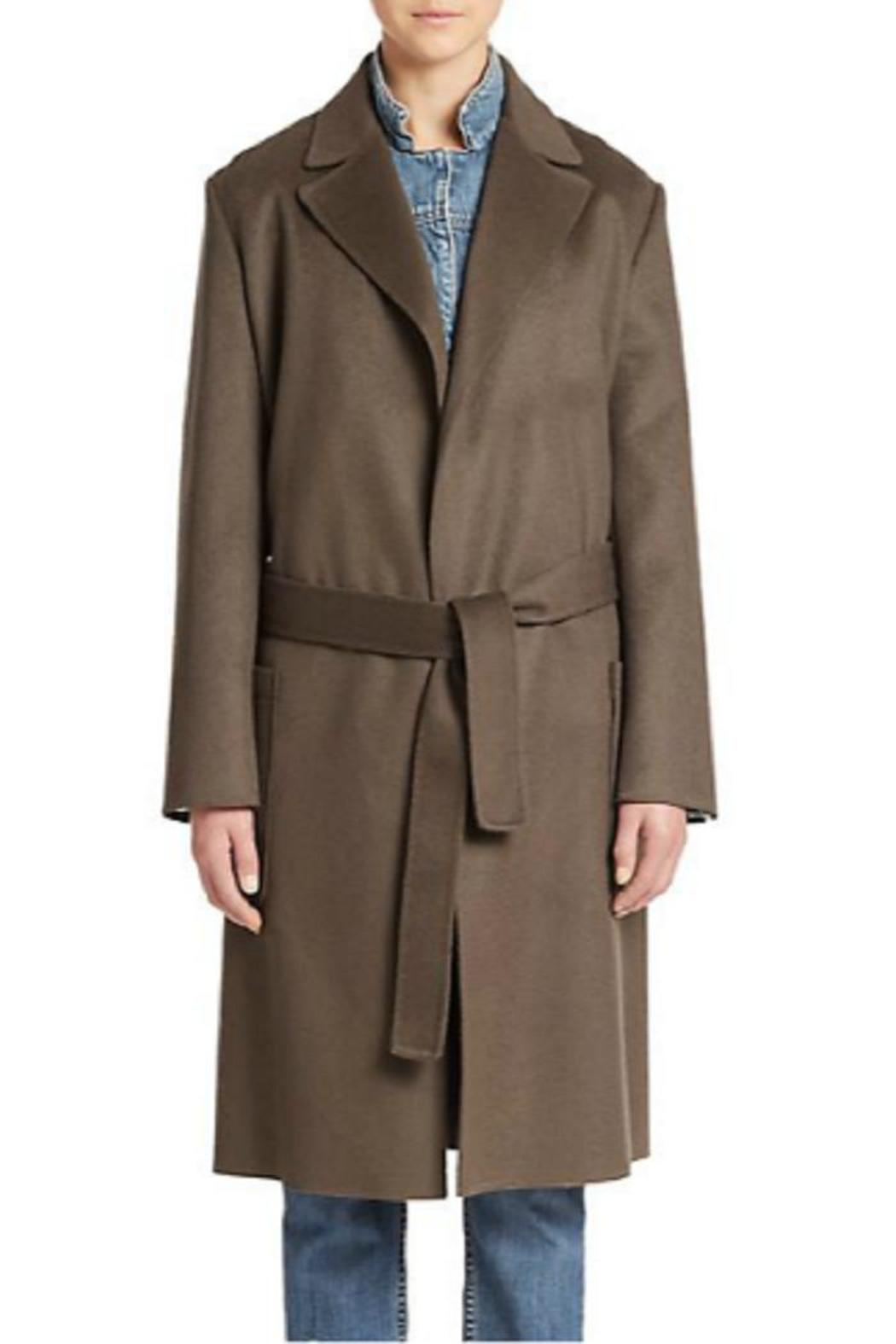 Helmut Lang Wool Cashmere Coat - Back Cropped Image