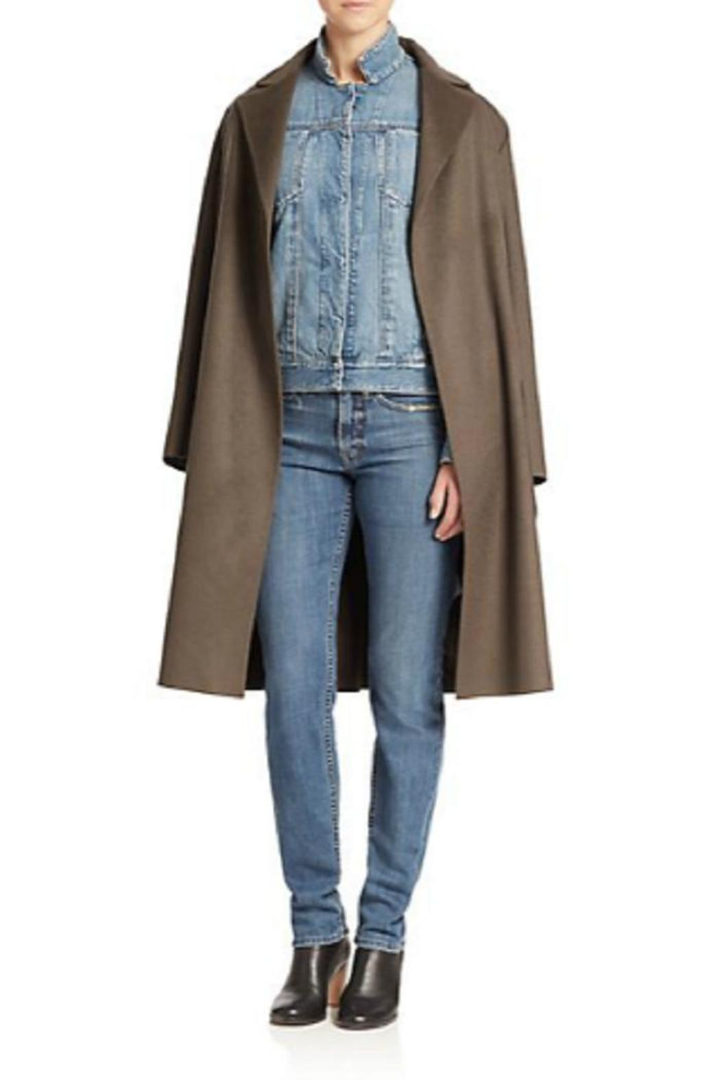 Helmut Lang Wool Cashmere Coat - Front Cropped Image