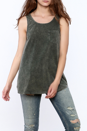 Hem & Thread Grey Burnout Long Tee - Product Mini Image