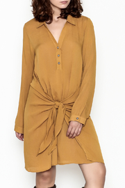 Hem & Thread Mustard Drape Dress - Product Mini Image