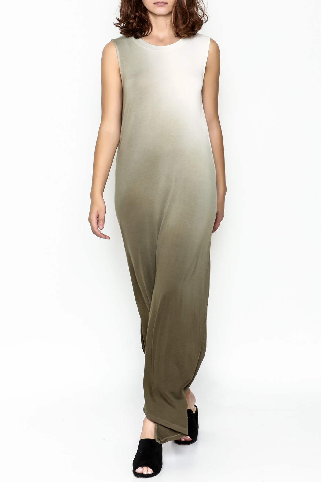Hem & Thread Ombre Maxi Dress - Front Cropped Image
