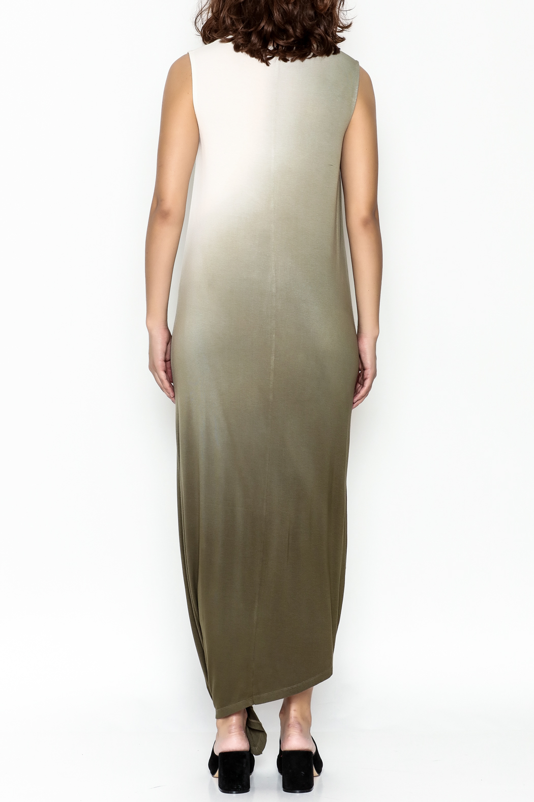 Hem & Thread Ombre Maxi Dress - Back Cropped Image