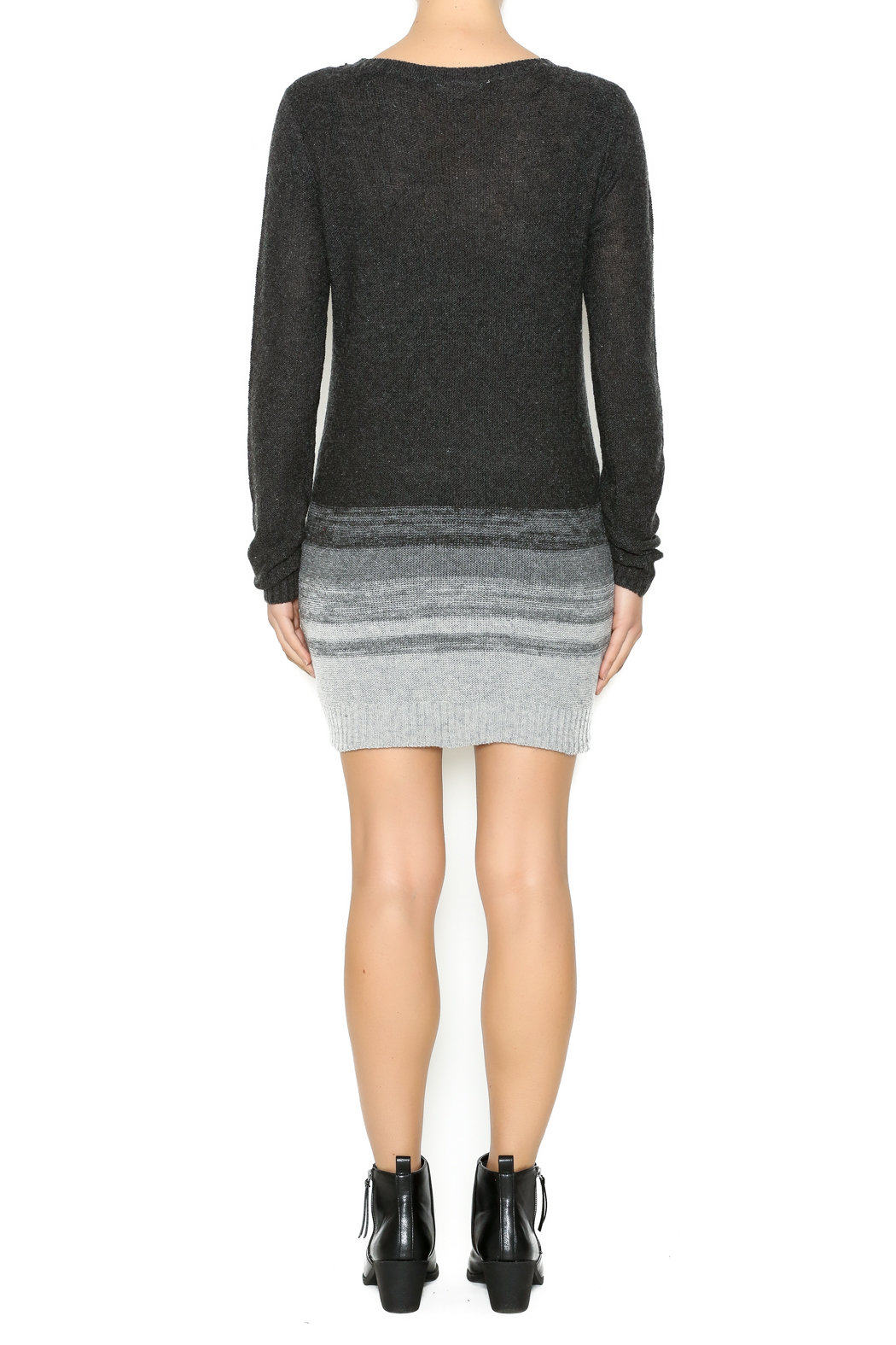 Hem Thread Ombre Sweater Dress From Pennsylvania By