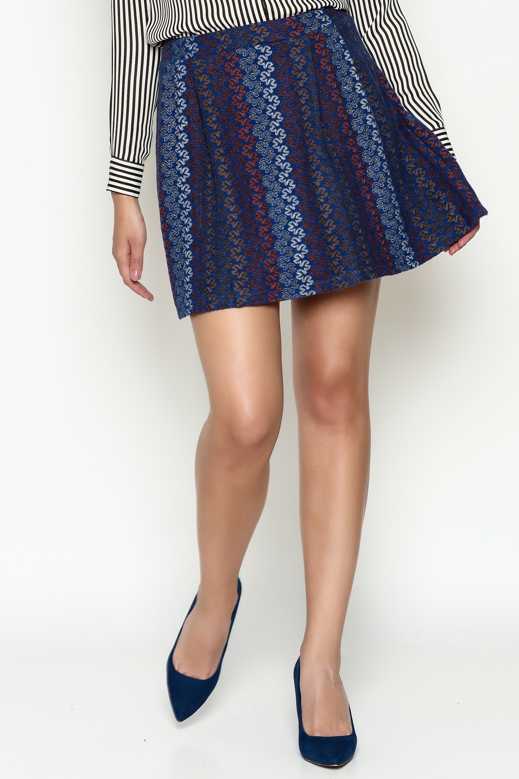 Hem & Thread Pattern Skirt - Front Cropped Image