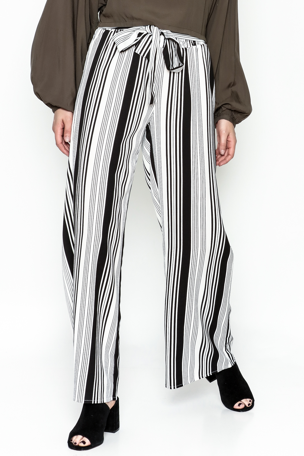 Hem & Thread Striped Pants - Main Image
