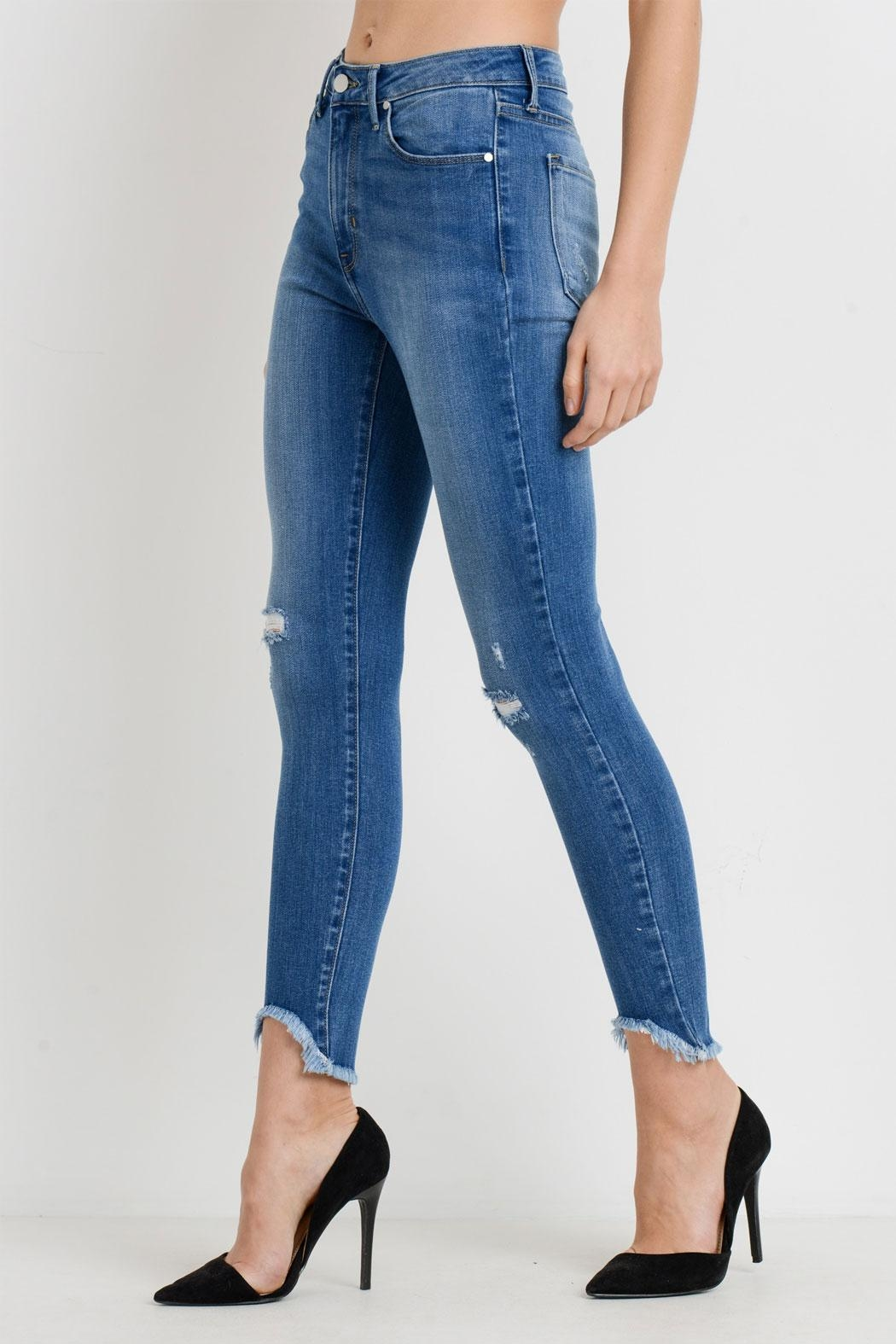 d65cce9555f just black Hem Destructed Jeans from New York by Runway   Rose ...
