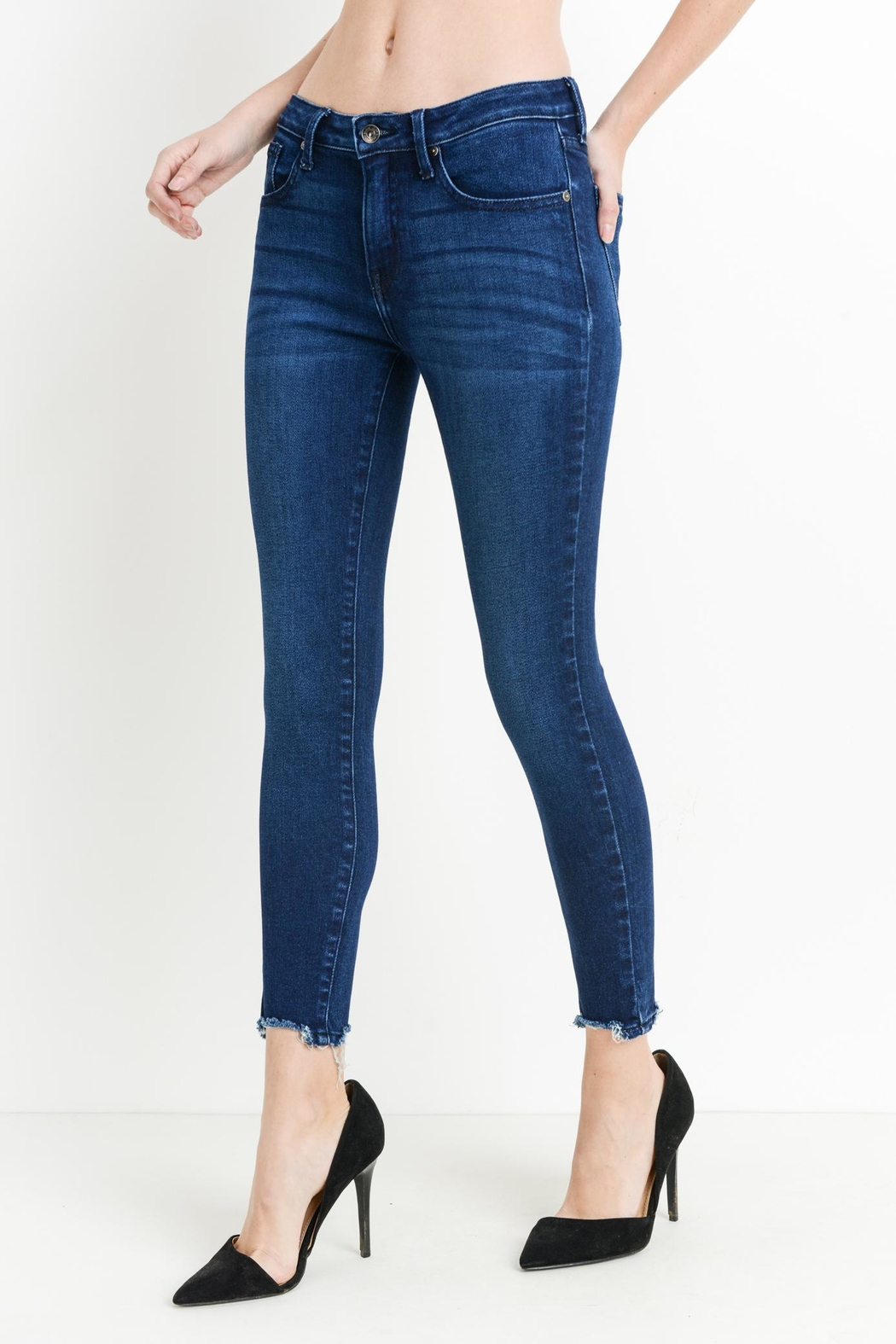 just black Hem Destruction Skinny - Side Cropped Image