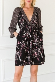 Hem & Thread Adele Mixed-Print Dress - Product Mini Image