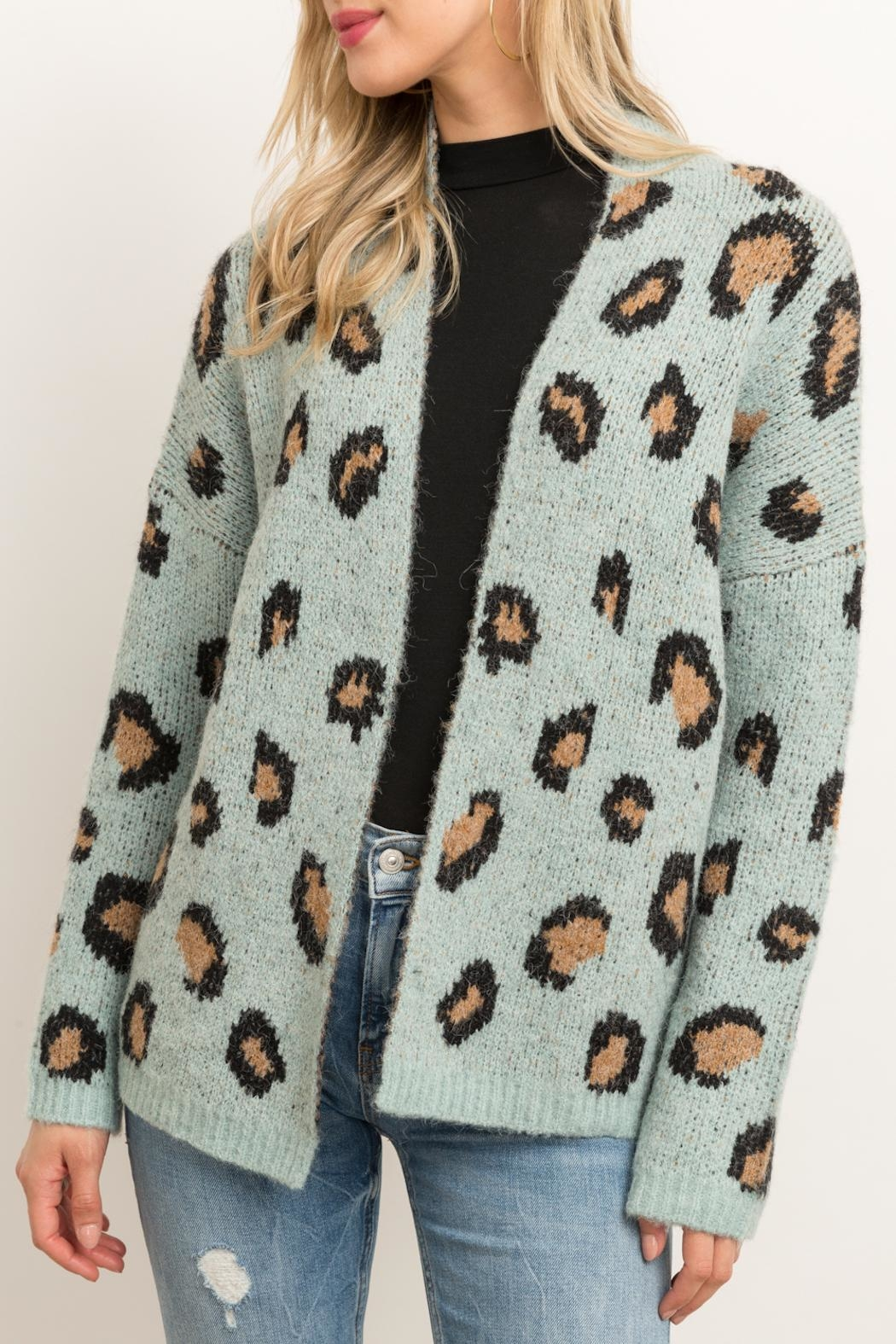 Hem & Thread Animal Print Cardigan - Front Full Image