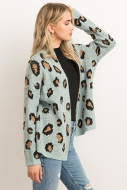 Hem & Thread Animal Print Cardigan - Side cropped