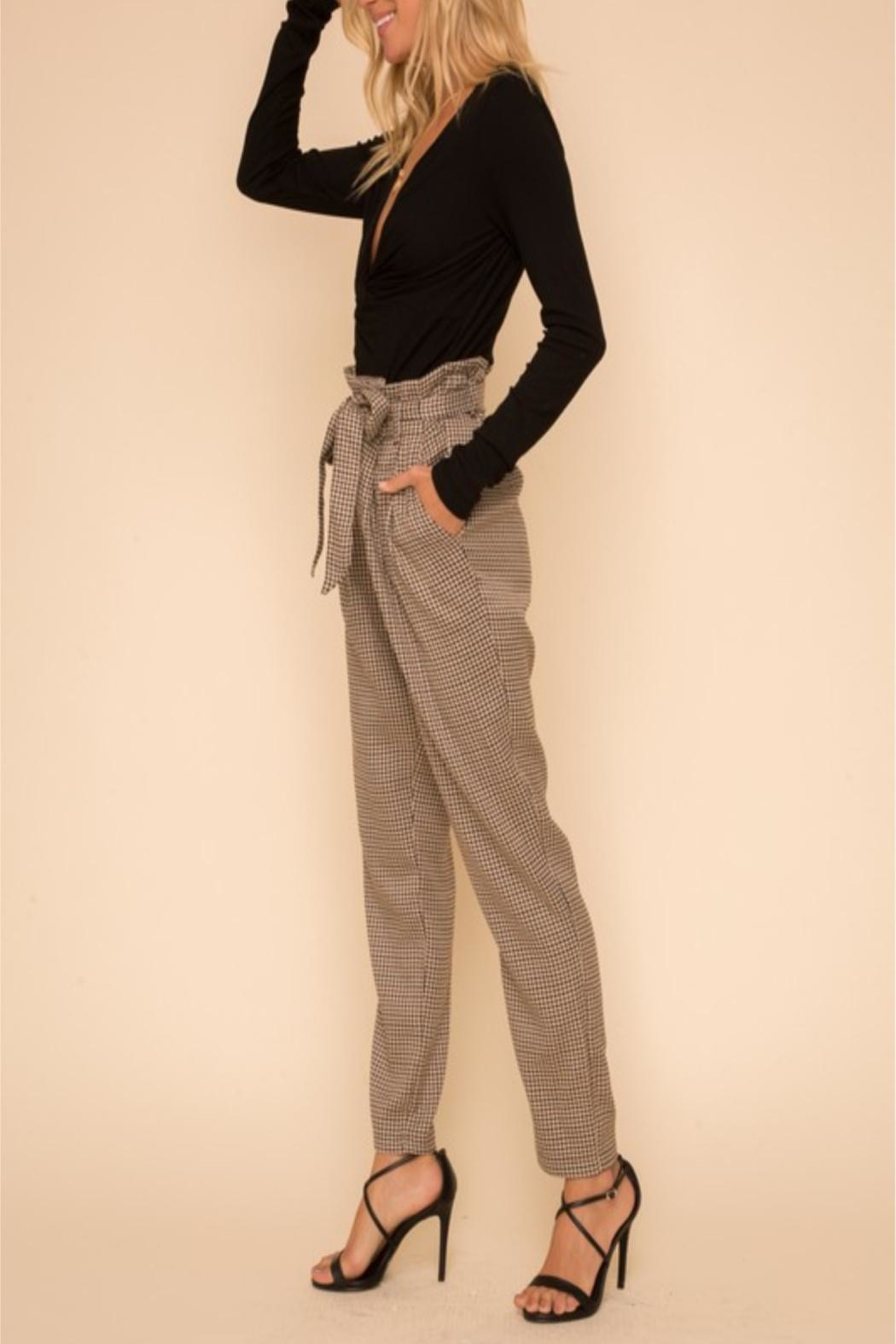 Hem & Thread Bagged Waist Trousers - Front Cropped Image